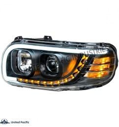 388 389 peterbilt headlight w led driver [ 955 x 955 Pixel ]