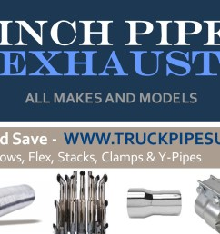 6inch exhaust pipes for big rig trucks from  [ 1659 x 783 Pixel ]