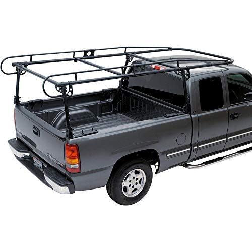 Jeremywell Adjustable Steel Pick Up Truck Bed Hitch Extender Extension Rack with Flag for Boat Lumber Long Loads Canoe Ladder Fits 2 Hitches 750 Lbs Weight Capacity