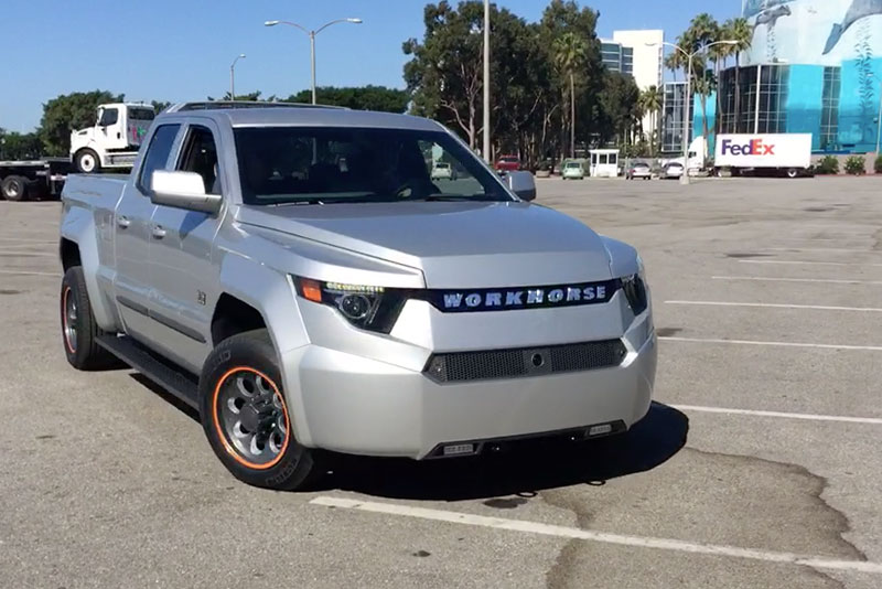 Workhorse electric pickup truck