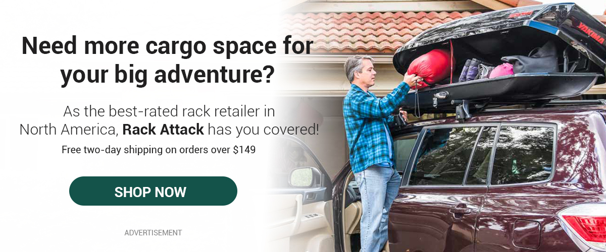 a roof rack on your adventure vehicle