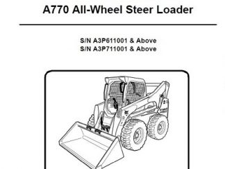 Bobcat 873 Skid Steer Loader Workshop Service Repair