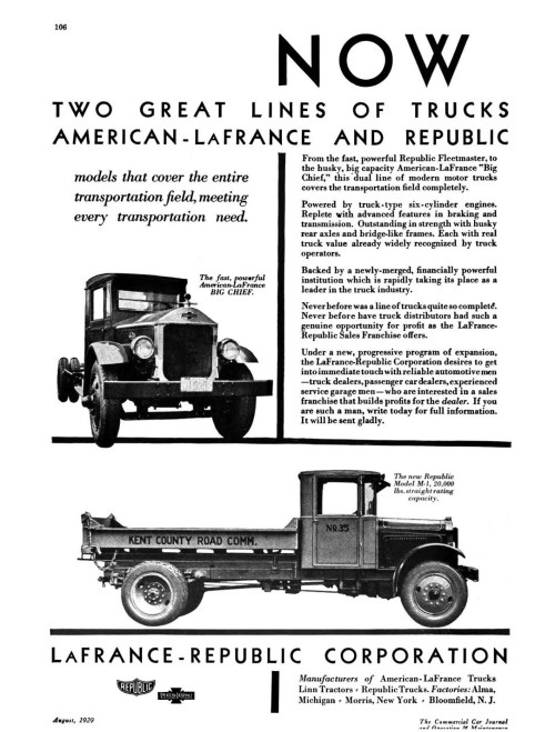 small resolution of the range included 12 models from small republic fleetmaster to large american lafrance big chief