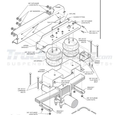 2474, Firestone Ride-Rite Rear Air Spring Kit for the Ford