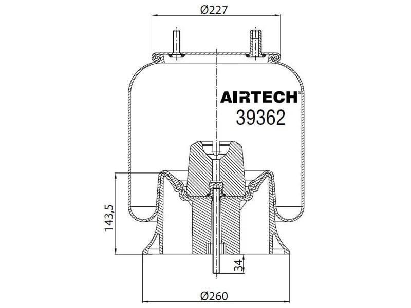 39362KPP AirTech Air Spring Replaces Firestone W01-358