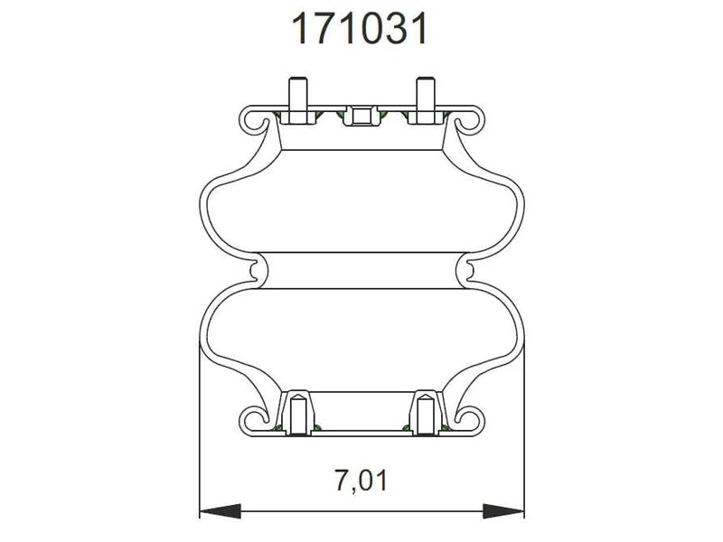 190335-DC Connect Air Bag Replaces Firestone W21-760-0335