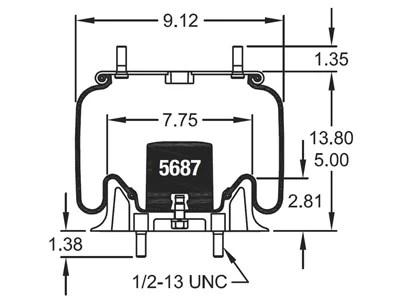 W01-358-8897, Firestone Reversible Sleeve Air Spring