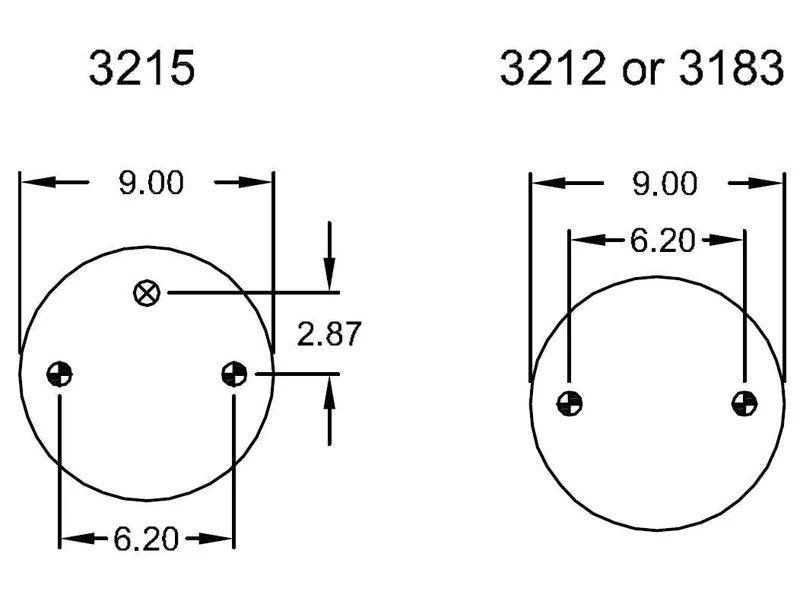 W01-358-7444, Firestone Double Convoluted Air Spring