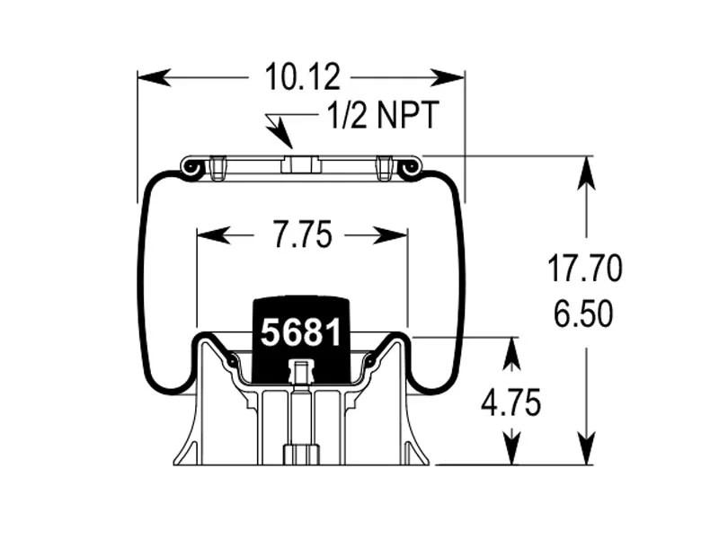 trailer air bag suspension diagram of hypervisor w01-358-8813 | firestone airide spring 1t15m-4