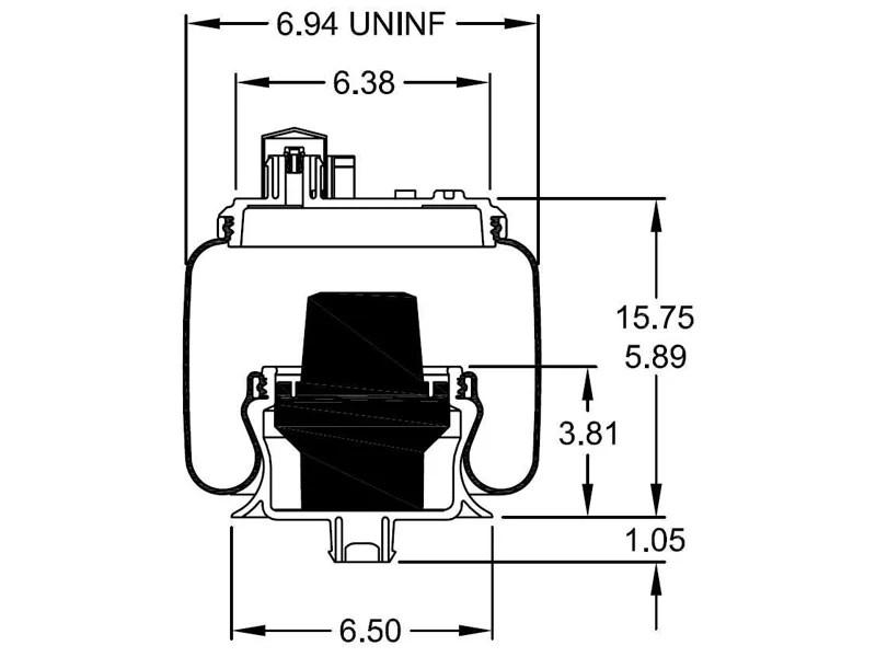 W26-358-9911, Firestone Sleeve Style Air Spring, Firestone