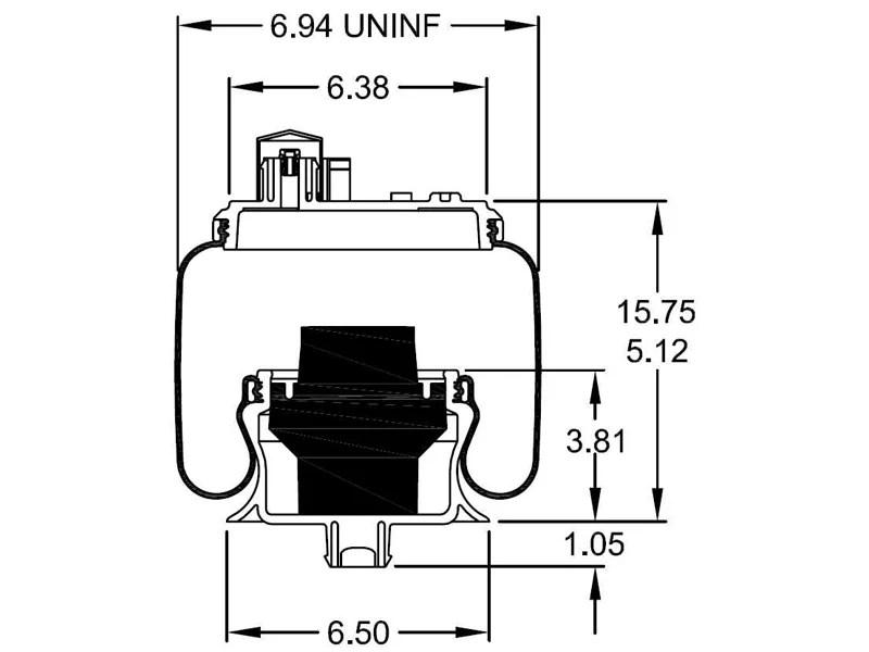W26-358-9913, Firestone Sleeve Style Air Spring, Firestone