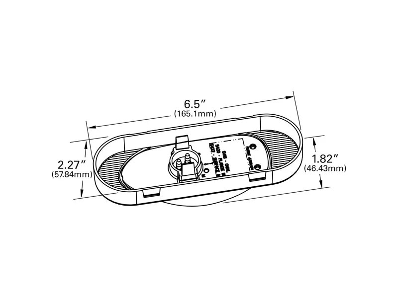54183, Grote Amber SuperNova Oval LED Side Turn-Marker Lamp