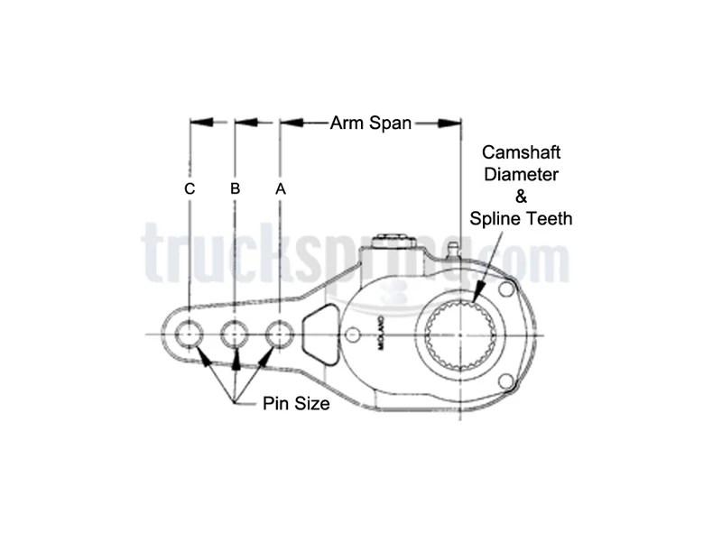 KN47001, Straight Arm Manual Slack Adjuster