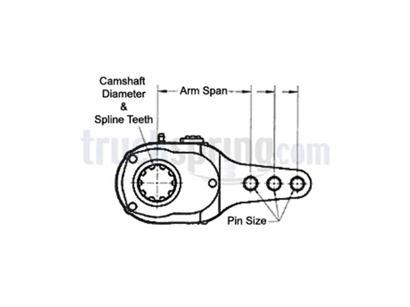 KN49030, Offset Arm Manual Slack Adjuster