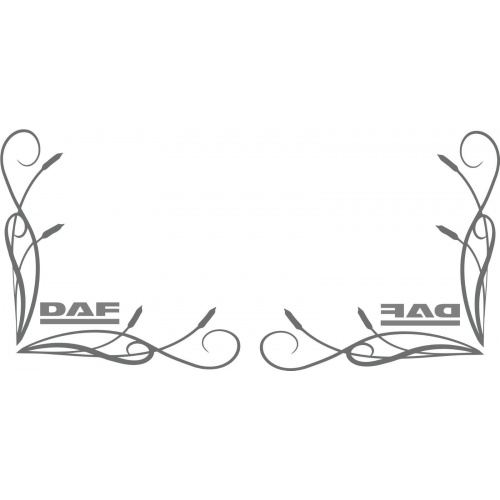 DAF style truck cab window stickers wording (pair) fine