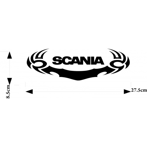 Scania Truck sticker in tribal surround decal for glass