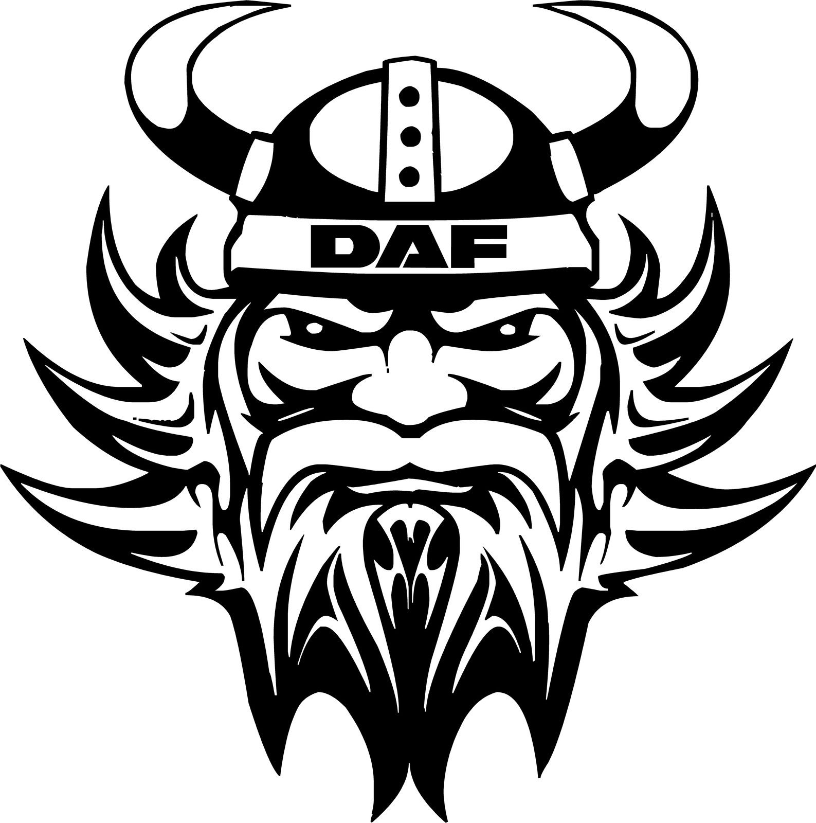 DAF truck cab bullrush scroll window stickers
