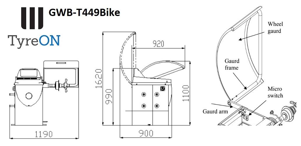 TyreON GWB-T449 motorcycle wheel balancer