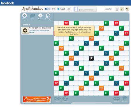 Facebook Apalabrados: Nueva partida