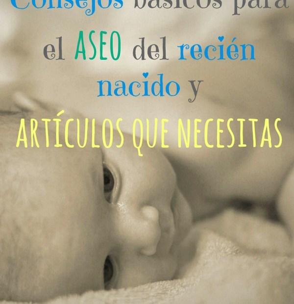 lista recién nacido aseo e higiene