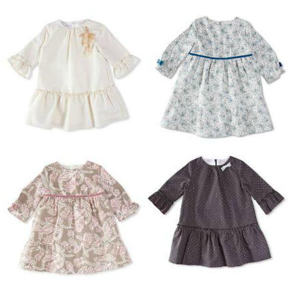 Vestidos de manga francesa para niñas a partir de dos años