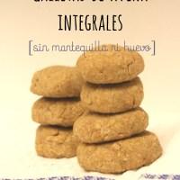 Galletas de avena integrales [sin huevo ni mantequilla]