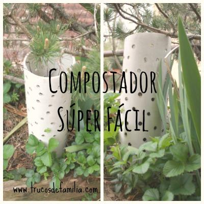 Compostador súper fácil. Sostenibilidad en el jardín comestible.