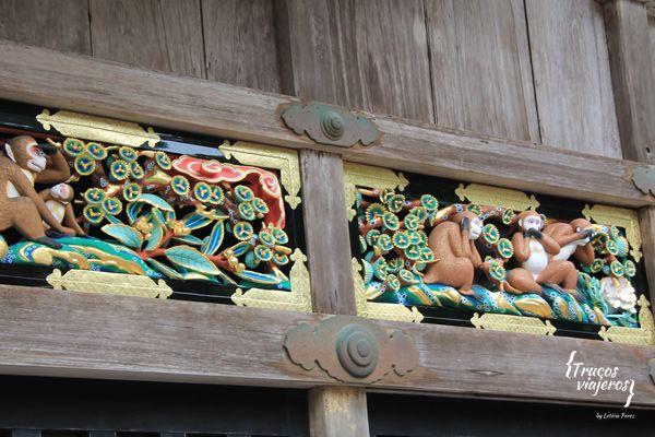3 monos Nikko patrimonio de la Humanidad