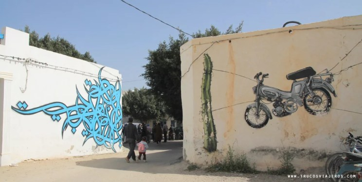 Djerba Graffiti streets calligraphic street art Tunisia