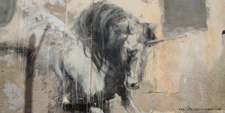 unicorn street art Djerba Tunisia