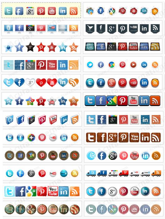 trucs de blogueuse -integrer reseaux sociaux icones 2