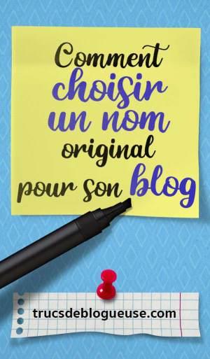Comment choisir un nom original pour son blog