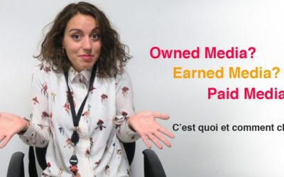 C'est quoi le «paid», «owned» et le «earned» media en Marketing Digital?