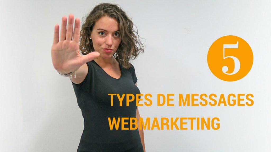 5 types de messages Marketing en ligne différents