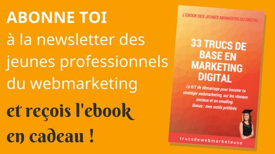 Recevoir l'ebook 33 trucs de base en marketing digital