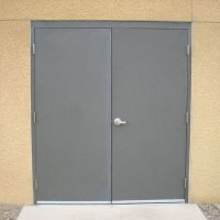Commercial Steel Double Doors | Hollow Metal Door Pair
