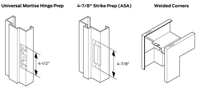 Welded Commercial Hollow Metal Door Frames