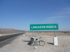 Reaching the famous Nazca lines...