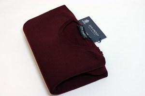 John Smedley Marcus Wool Crew Knit – Bordeaux