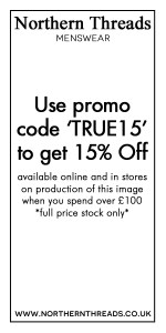 Get 15% off at Northern Threads with promo code TRUE15