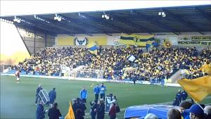 Oxford United supporters at Kassam Stadium