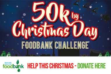 50k by Christmas Day Foodbank Challenge. Newcastle West End Foodbank, help this Christmas - Donate here