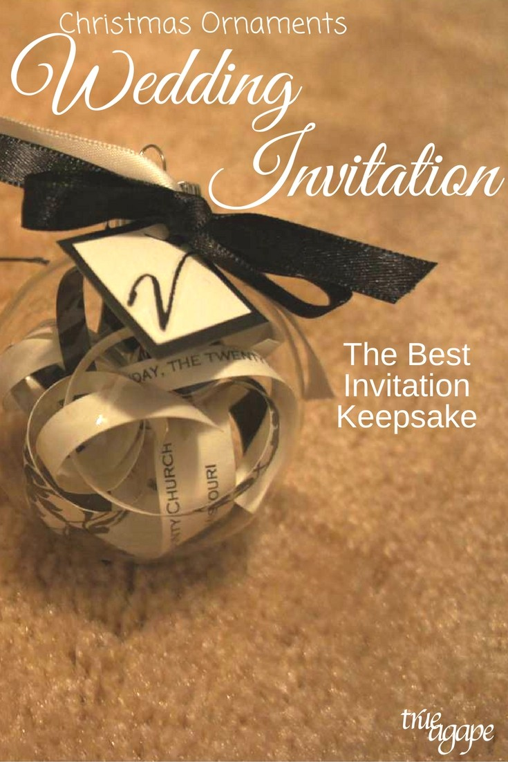 The Best Wedding Invitation Keep Sake Christmas Ornaments Made From Invitations