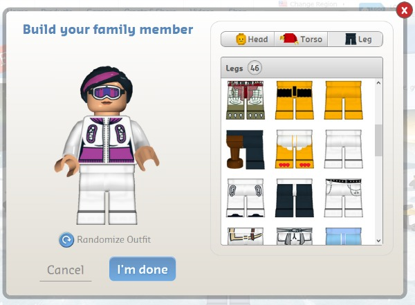 Free LEGO Minifigure Family Holiday Greeting Card True Aim