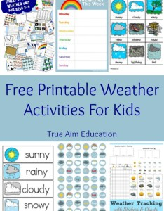 Free printable weather learning activities for kids this list includes tracking charts stickers also true aim rh trueaimeducation