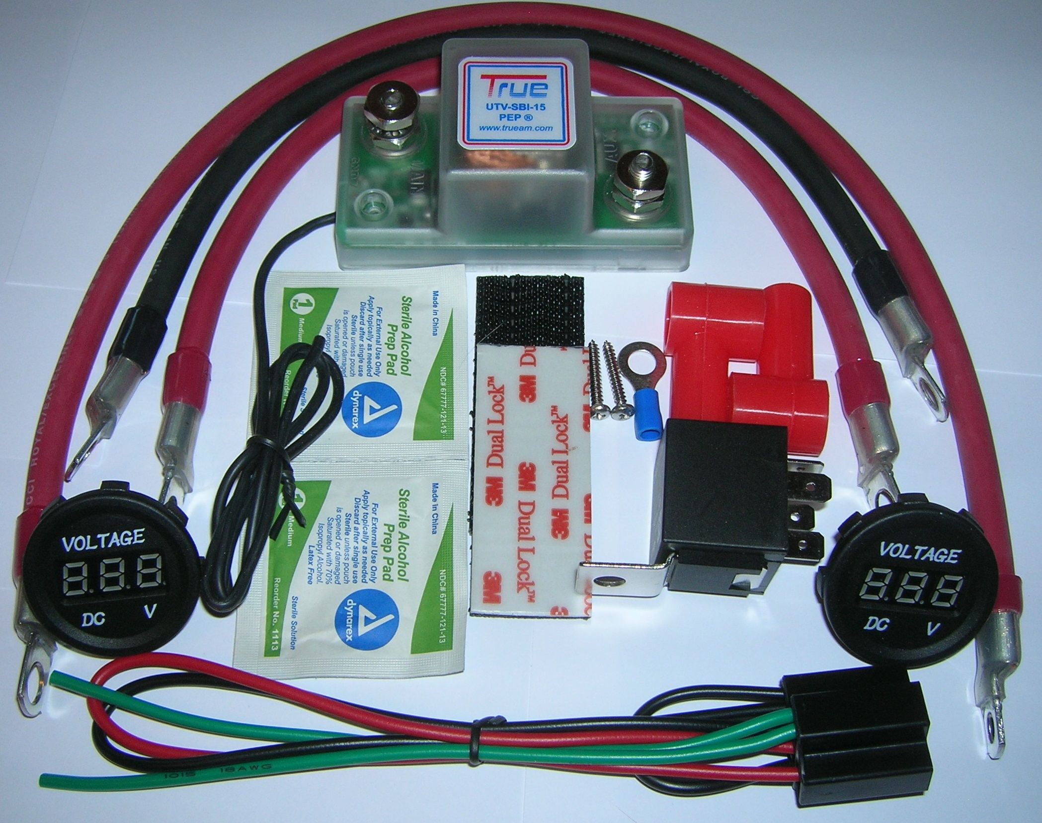 sca dual battery kit wiring diagram 4 to 1 multiplexer logic true utv sbi 15cm connect and monitor