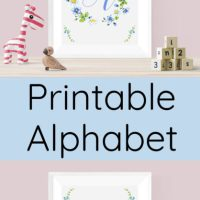 Blue Alphabet Printables
