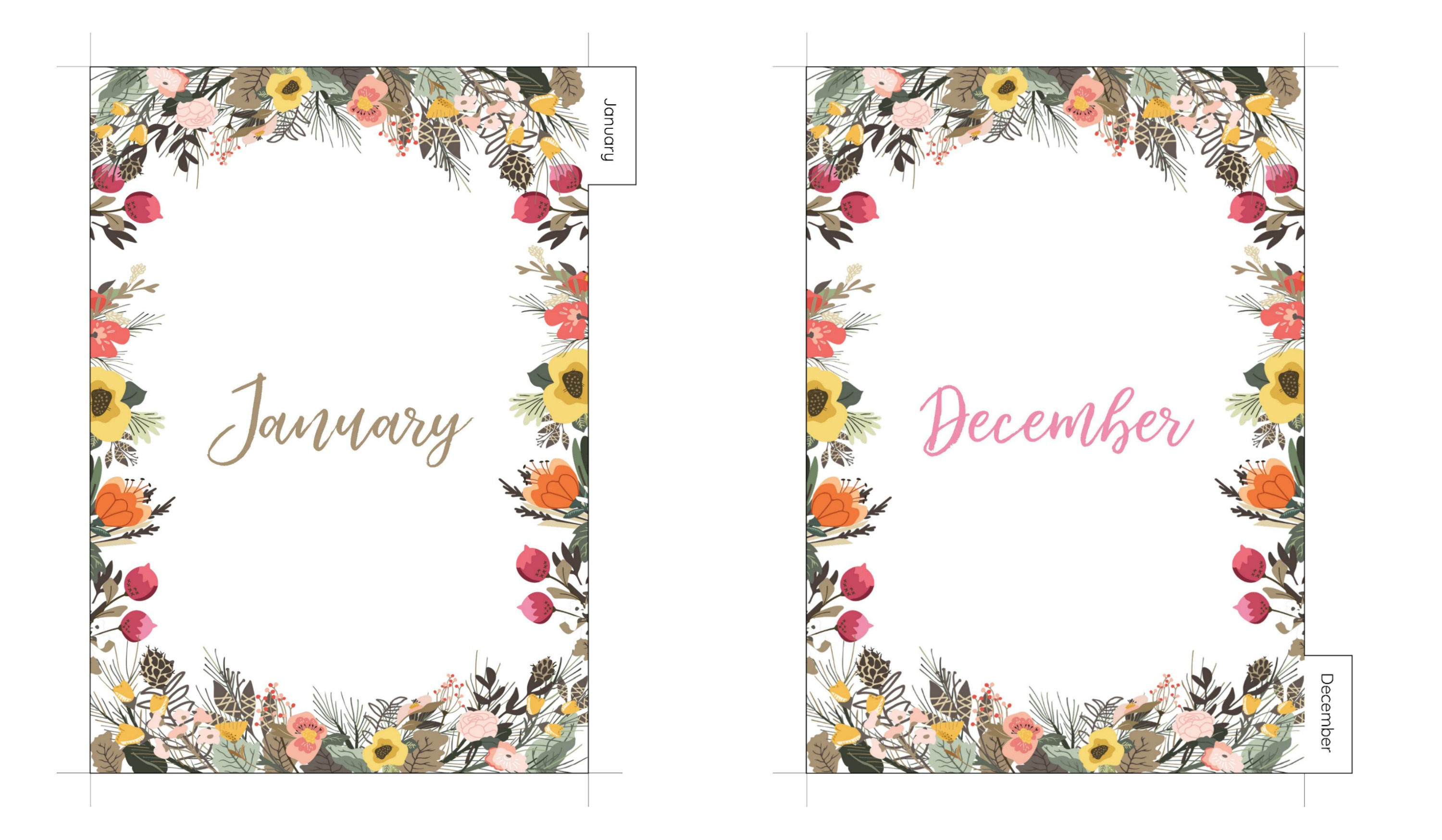 Monthly Planner Dividers