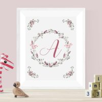 Floral Alphabet Printables – Summer Wreath