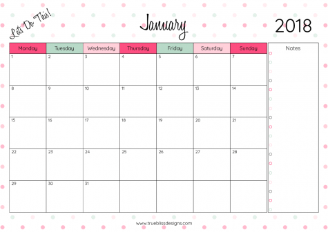 photo regarding Monthly Printable Calendars identify 2018 Regular monthly Printable Calendar - Allows Do This! - Correct